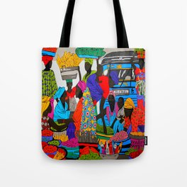 African marketplace 2 Tote Bag