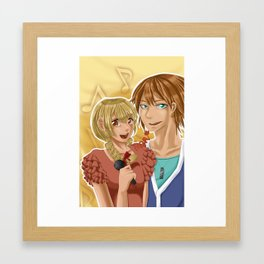 Kudou and Hime Framed Art Print