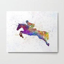 Horse show 06 in watercolor Metal Print