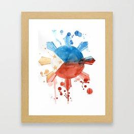 Philippine Flag Art Framed Art Print