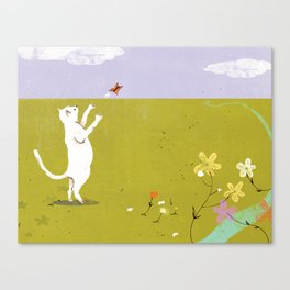 First, I'll Catch This Butterfly Canvas Print