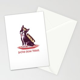 Boston Cream Terrier Stationery Cards