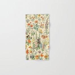 Wildflower Diagram // Fleurs II by Adolphe Millot 19th Century Science Textbook Artwork Hand & Bath Towel