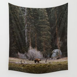 BEAR IN THE FOREST Wall Tapestry