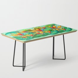 Bird of Paradise Flower Exotic Nature Coffee Table