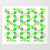 lime Art Prints featuring lime by ingrid chow