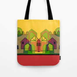 Two Suns Above the Village Tote Bag