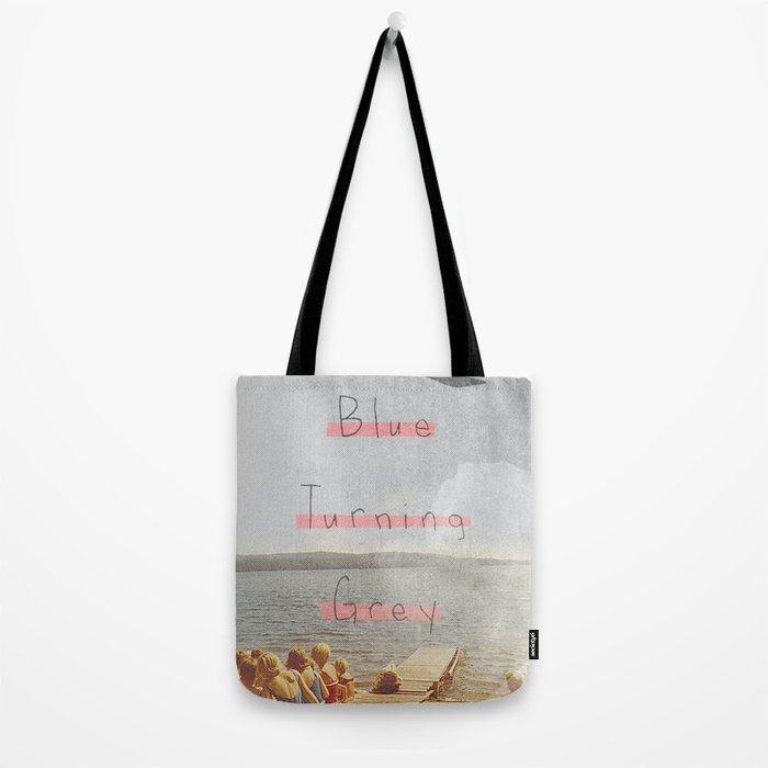Blue Turning Grey | Collage Tote Bag