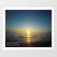 bender Art Prints featuring Sun Bender by Luke Forgay