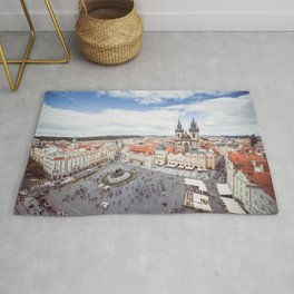 Old Town Square in Prague Rug