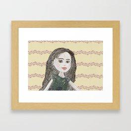 Drawing of a Girl Framed Art Print