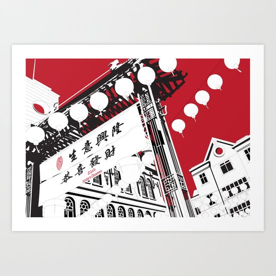 London's Chinatown Art Print