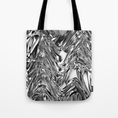 Silver Molten Metal Tote Bag