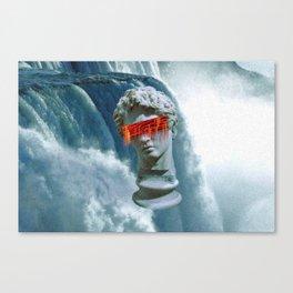Vaporwave waterfall Canvas Print
