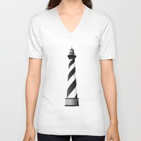 lighthouse V-neck T-shirts featuring LIGHTHOUSE by oslacrimale