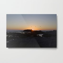 A California sunset Metal Print