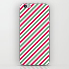 Holiday Stripes iPhone Skin