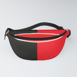 Team Colors 6...red,black,white Fanny Pack