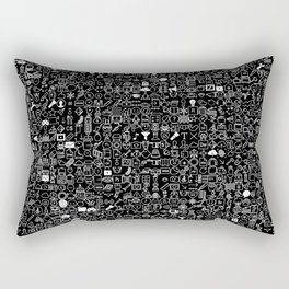 ICONS Overdrive, White and Black Rectangular Pillow