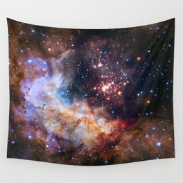 Hubble 25th Anniversary Image Wall Tapestry