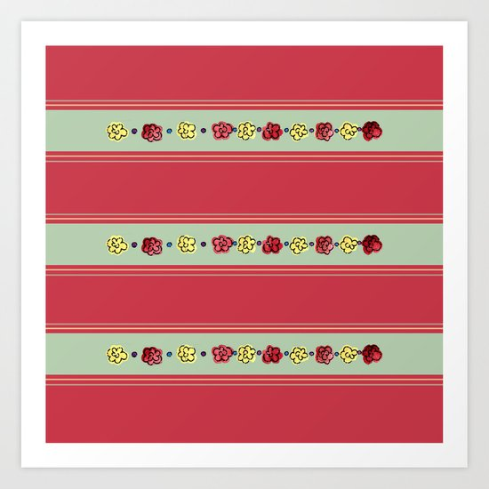 A Rosey Outlook Red Art Print