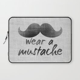 Wear a mustache Laptop Sleeve