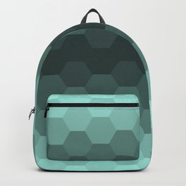 Teal Mint Honeycomb Backpack