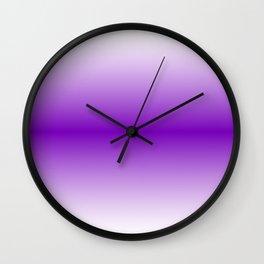 Violet Horizon Gradient Wall Clock