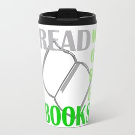 READ MORE BOOKS in green Travel Mug