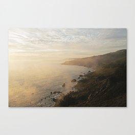 Muir Beach Overlook Fog Canvas Print