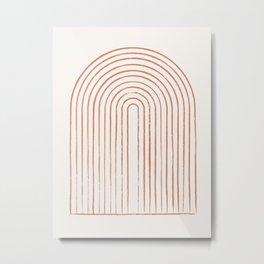 Arch Dusty Orange Metal Print