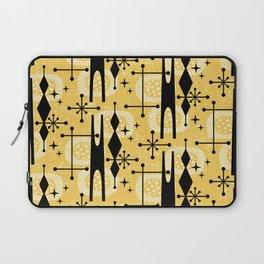 Retro Atomic Mid Century Pattern 771 Yellow Laptop Sleeve