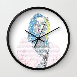 Badlands Lyrics Wall Clock