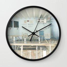 Last Wash Last Dry Wall Clock