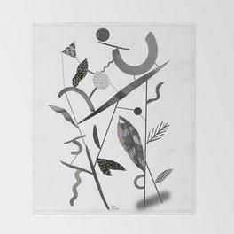 Abstract Botanica - 2 Throw Blanket