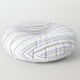 Beautiful old-fashion Striped Watercolor Black and White Pattern Floor Pillow