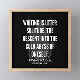 19   |  Franz Kafka Quotes | 190517 Framed Mini Art Print
