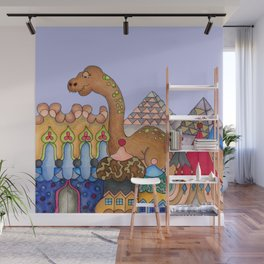 Dinosaur in Egypt Wall Mural