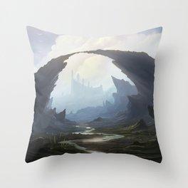 Rocky pass Throw Pillow