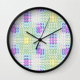 "series ""Stained glass"" - seven colors Wall Clock"