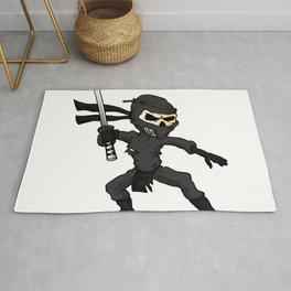 skull ninja cartoon. Rug