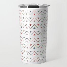 Ethno wave with triangles. Travel Mug