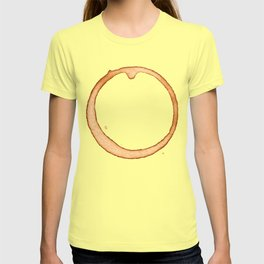 Vector coffee ring T-shirt