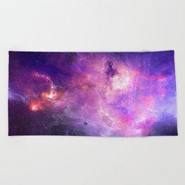 Purple space Beach Towel