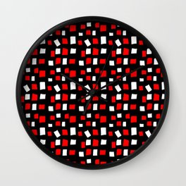 rectangle and abstraction 4-mutlicolor,abstraction,abstract,fun,rectangle,square,rectangled,geometri Wall Clock