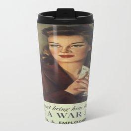 Vintage poster - Get a War Job! Travel Mug