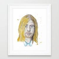 kurt rahn Framed Art Prints featuring Kurt by ElmStStudio