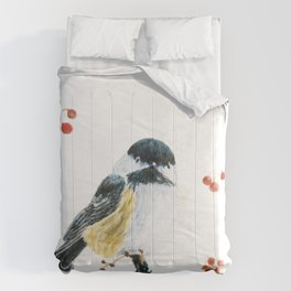 Christmas Chickadee by Teresa Thompson Comforters