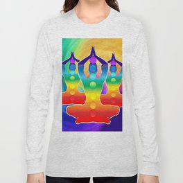 TRIPLE Om Meditation Mantra Chanting DESIGN Long Sleeve T-shirt