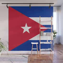 Flag of Cuba - Banner version (High Quality Image) Wall Mural
